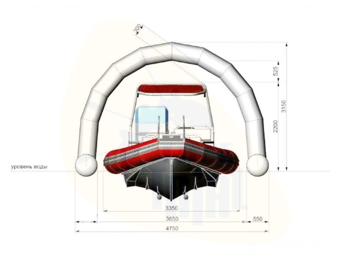Надувной плавучий ангар для яхты и катера WATERWAYS