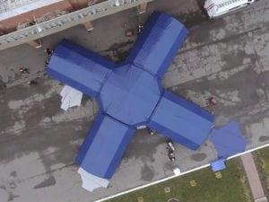 Пневмокаркасная палатка из 5-ти модулей для Газпрома
