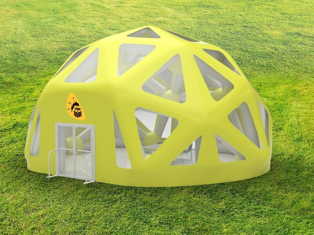 Пневмокаркасный павильон в форме купола