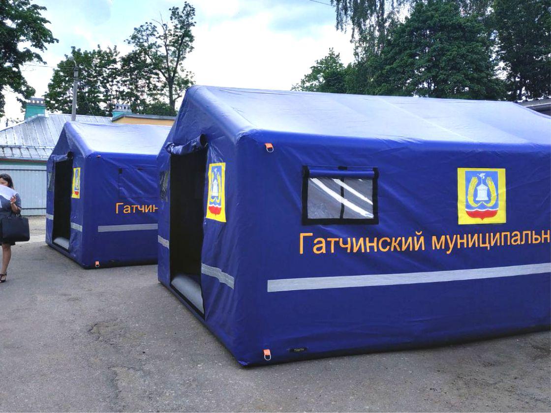 Пневмопалатки для Администрации Гатчинского района