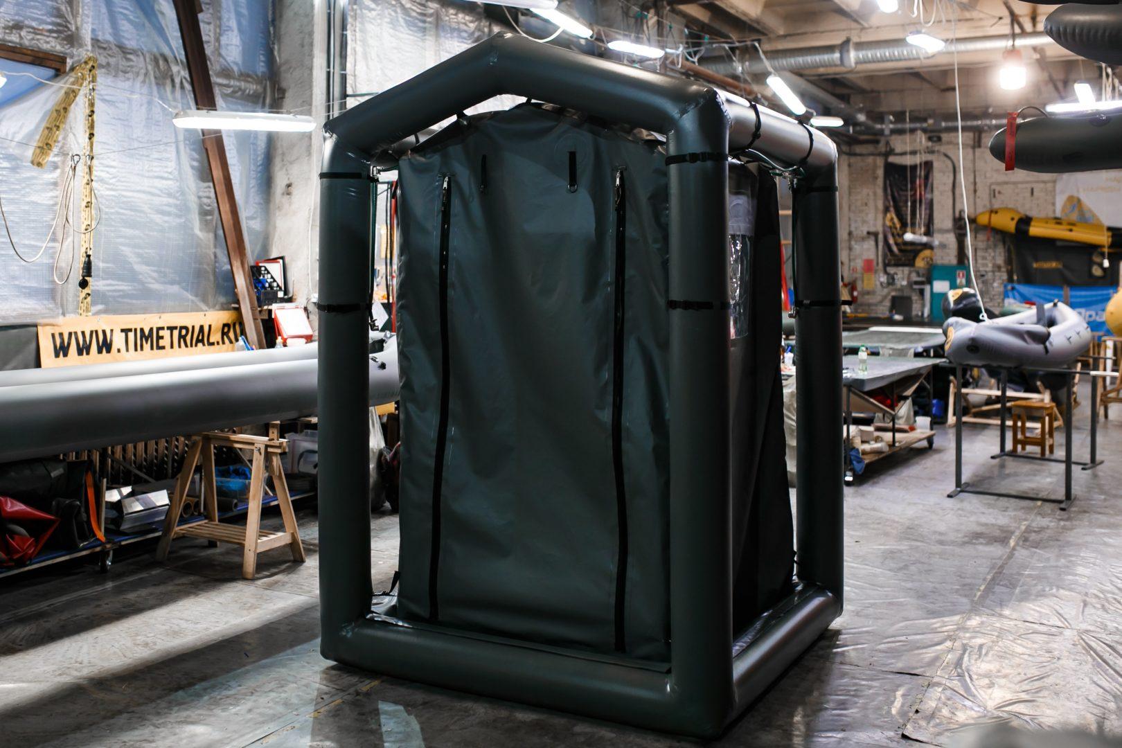 Быстровозводимая мобильная дезактивационная палатка для обеззараживания и дезинфекции одежды, СИЗ