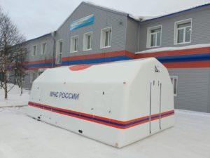 Мобильный пункт обогрева. Изготовлен по гос заказу для МЧС России, прибыл в г. Магадан