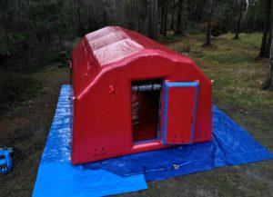 Пневмокаркасная палатка на заказ для нефтегазовой службы